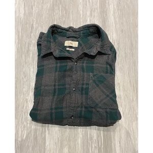 TNA plaid flannel shirt